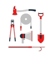 Firefighters tools set vector image vector image