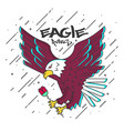 flat designed eagle vector image