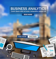 Flat Style Design Concepts for business analytics vector image vector image