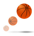 flying basketball ball vector image vector image
