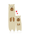 funny bears family sketch for your design vector image vector image