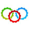 gear icon gear symbol for maintenance repair or vector image