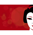 geisha background vector image vector image