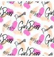 girl boss hashtags brushstroke seamless vector image vector image