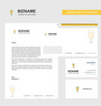 glass business letterhead envelope and visiting vector image vector image