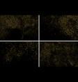 gold glitter texture set design element vector image vector image