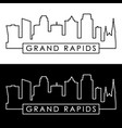grand rapids skyline linear style editable file vector image vector image