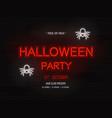 Halloween party light banner modern neon