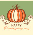 happy thanksgiving background with pumpkin and vector image vector image