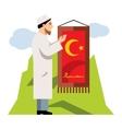 Islamic Prayer Flat style colorful Cartoon