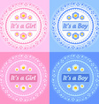 Its a girl and boy ornaments vector image vector image