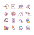 lab research and diagnostics rgb color icons set vector image