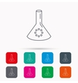 Laboratory bulb or beaker icon Chemistry sign vector image