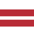 latvian flag vector image vector image