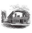 lydia darrahs house vintage vector image vector image