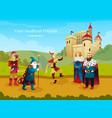 medieval kingdom flat composition vector image vector image