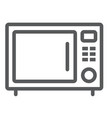 microwave oven line icon kitchen and cooking vector image vector image