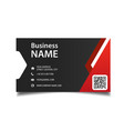 modern business card red and black background vect vector image vector image