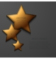 modern gold star background vector image vector image