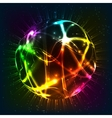 Neon shining sphere vector image vector image