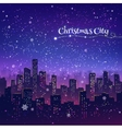 night christmas cityscape vector image