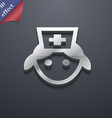 nurse icon symbol 3D style Trendy modern design vector image vector image