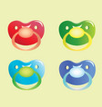 pacifiers set vector image vector image