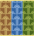 pattern with abstract architectural forms vector image
