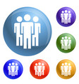 people peace group icons set vector image vector image