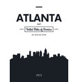 poster city skyline atlanta flat style vector image