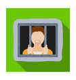 prisoner icon in flat style isolated on white vector image vector image