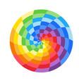 rainbow circle logo vector image vector image