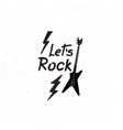 rock music icon musical sign background rock vector image