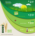 Save the planet green infographic vector image vector image