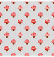 seamless pattern with cute red fly agaric amanita vector image