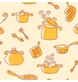 Seamless utensil pattern vector image