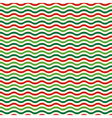 Seamless Wave Pattern in Christmas Colors Isolated vector image vector image