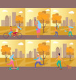 set of pictures sport theme vector image vector image