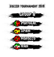 soccer tournament 2018 group b vector image vector image