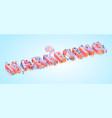social media marketing advertising word banner vector image vector image