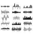 sound frequency waves analog curved signal vector image
