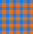 tablecloth seamless pattern orange and blue vector image vector image