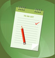 to do list or notebook icon concept vector image vector image