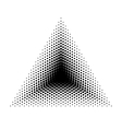 Triangle halftone geometric shapes Dot vector image