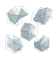 Triangle low poly circles set Abstract business vector image vector image