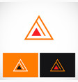 triangle pyramid line logo vector image