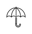 umbrella - line design single isolated icon vector image vector image