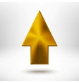 Up Arrow Sign with Gold Metal Texture vector image vector image