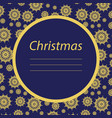 vintage greeting card with christmas decorations vector image vector image