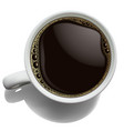 white porcelain cup of coffee with foam on a vector image vector image